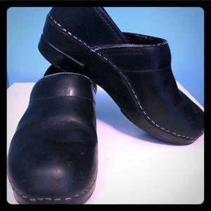 Dansko black clogs size 38